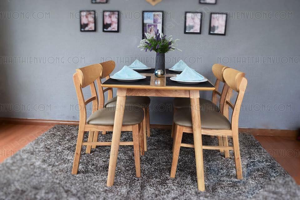 bàn ăn 4 ghế mango đẹp giá rẻ