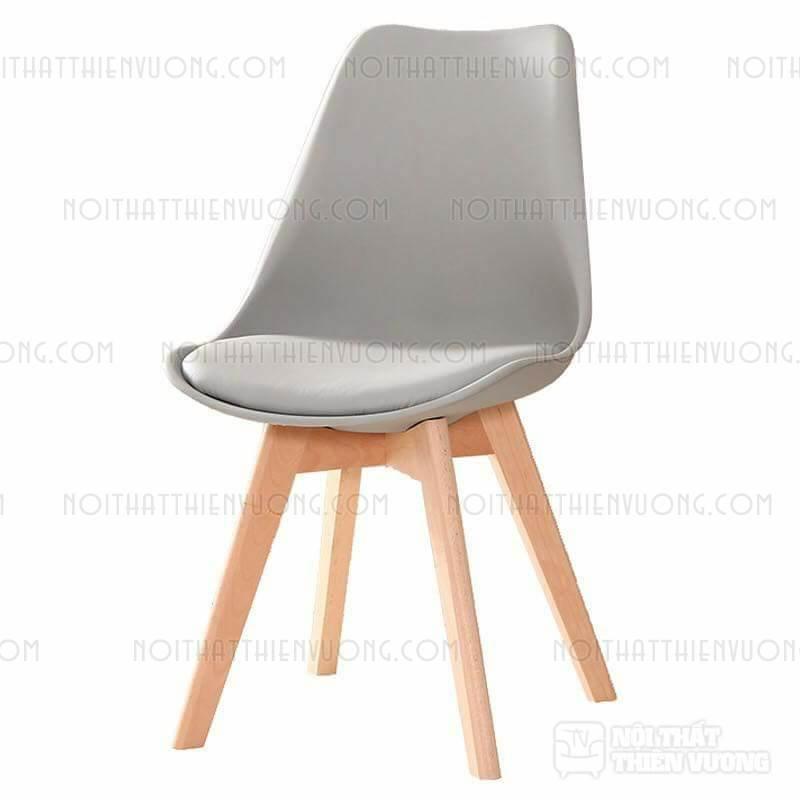 ghế cafe gỗ bọc da