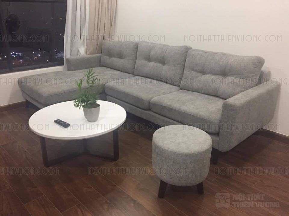 sofa nỉ thông minh dáng dài màu xám giá rẻ