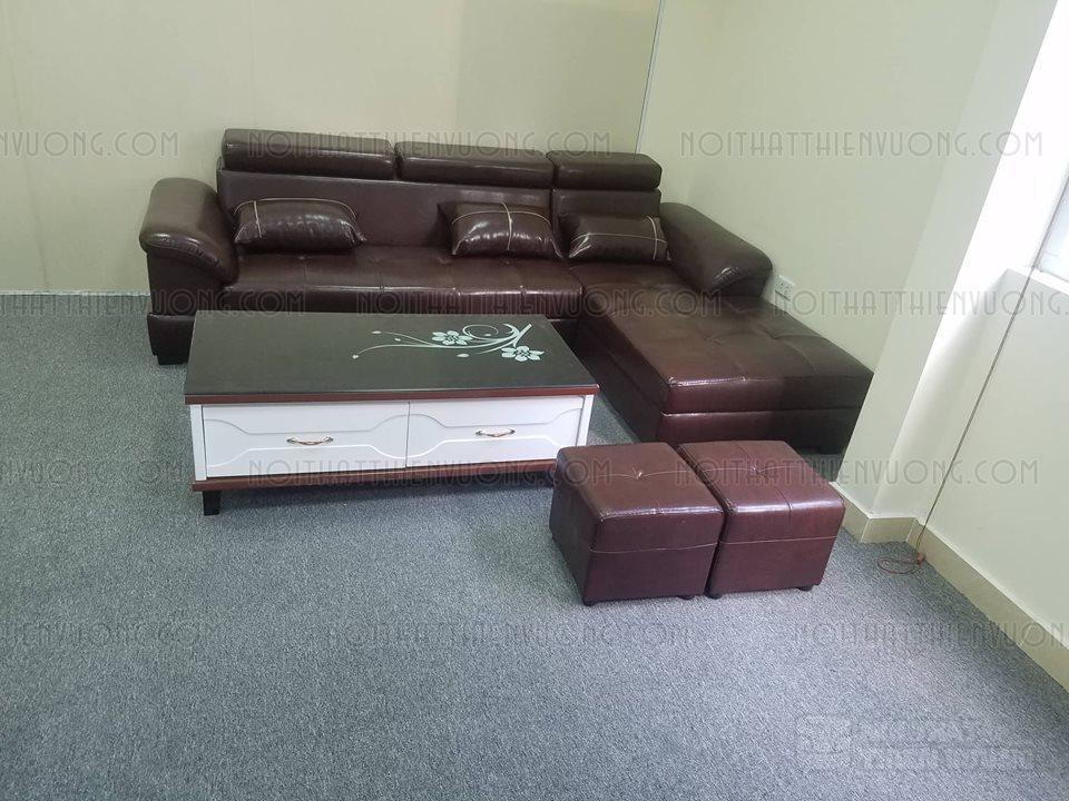 sofa da màu nâu cao cấp