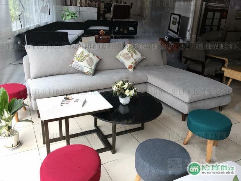 sofa nỉ thông minh màu trắng
