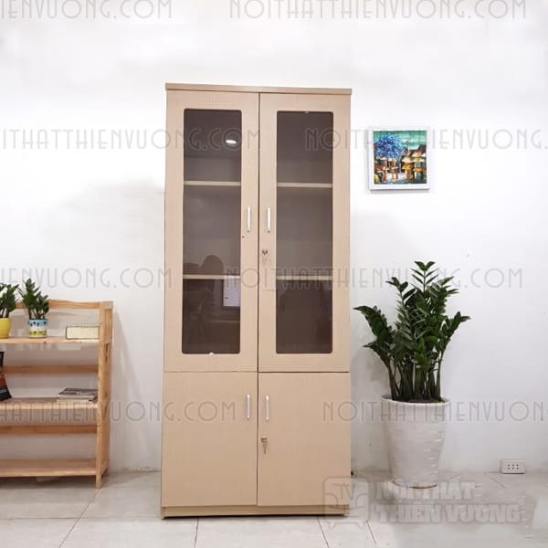tủ gỗ tài liệu giá rẻ 2 buồng