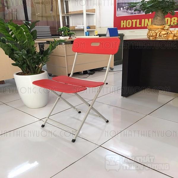 ghế gấp 3 lá màu đỏ